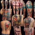 Watercolor Indian Tattoos