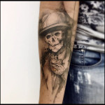 Whiskey Skeleton Tattoo