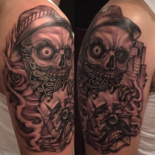 Chicano skull tattoo best tattoo ideas gallery for Chicano tattoos meanings