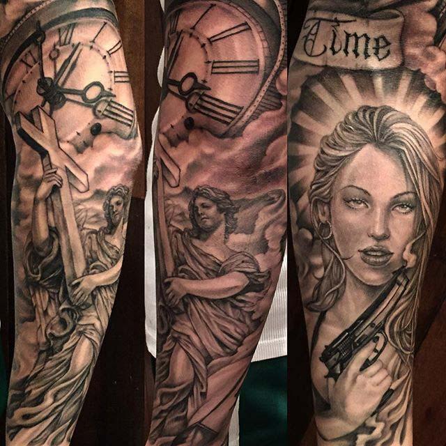 sleeve tattoo chicano