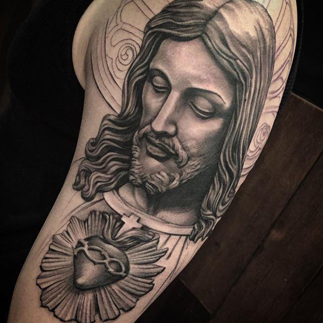 Religious Chicano tattoo Jesus