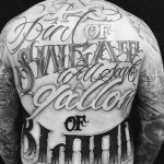 Chicano Tattoo Lettering