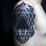 Geometry Blackwork Tattoo on Shoulder