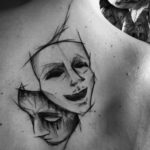 Theatre Mask Tattoo Designs