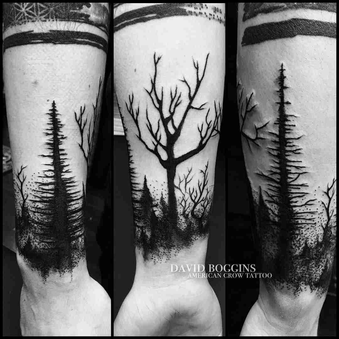 dark woods tattoo wristband