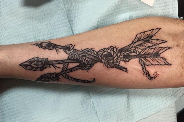 Arrows Tattoo by Grace LaMorte