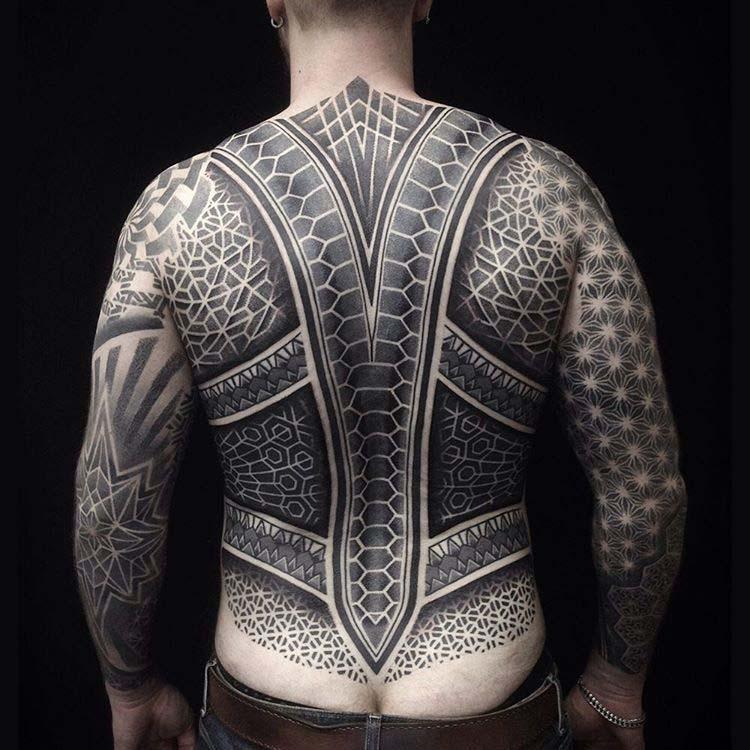 full back tattoo man