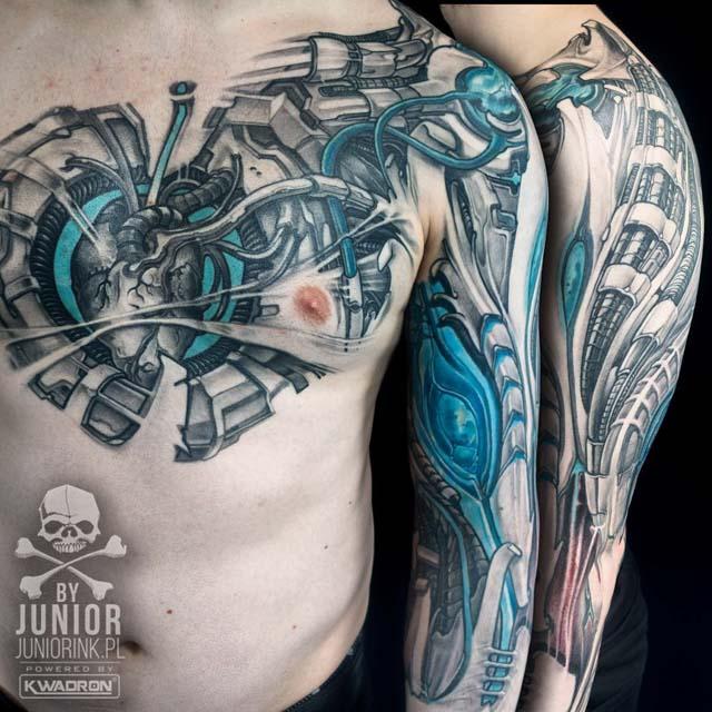 Biomechanical Tattoo Heart
