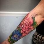 Flower Half Sleeve Tattoo