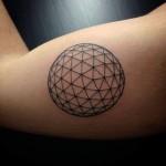 Geometric Bicep Tattoo Ball