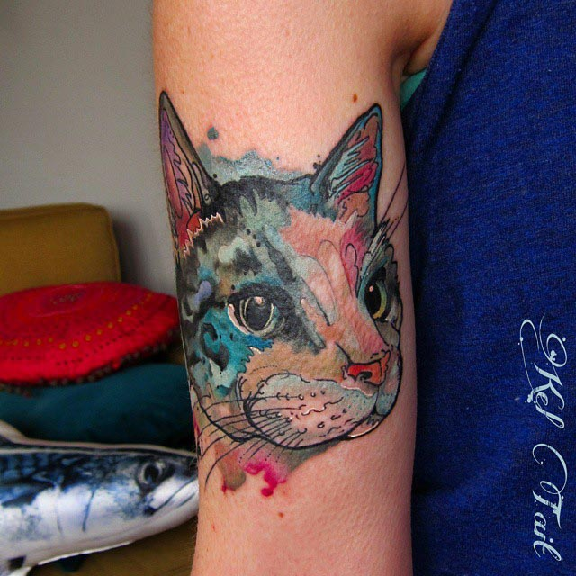 Girl Bicep Tattoo by kel.tait.tattoo