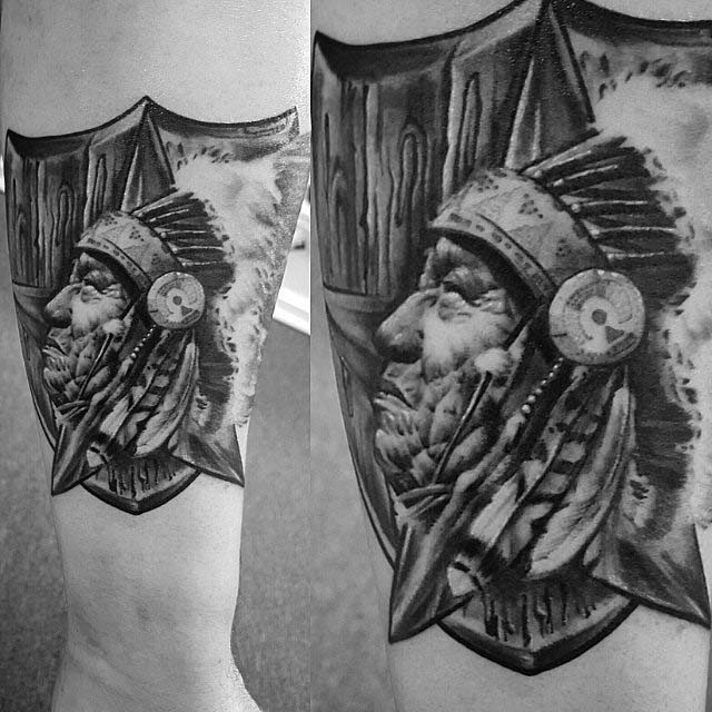 Indian Arm Tattoo by Kevin Soto