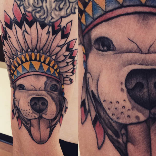 Indian Dog Tattoo by thegreenyeti13