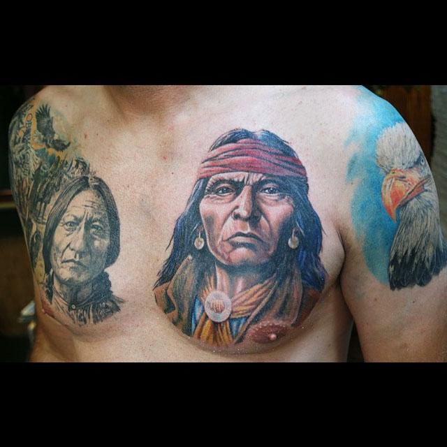 Indian Man Tattoo by Alexandr Cormacov