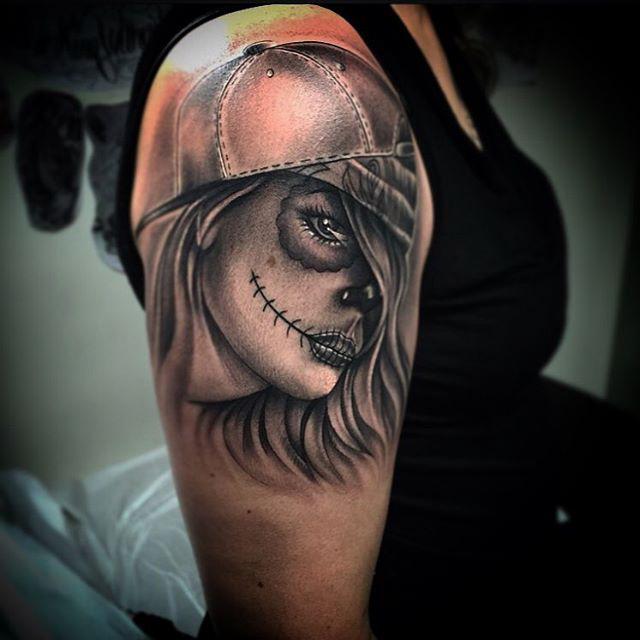 dead girl Tattoo Chicano