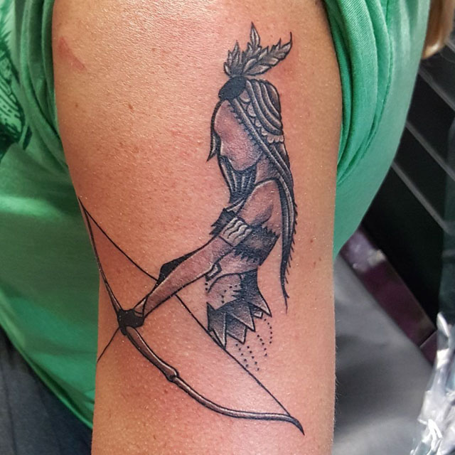Small Indian Tattoo by adam tyler zinanni