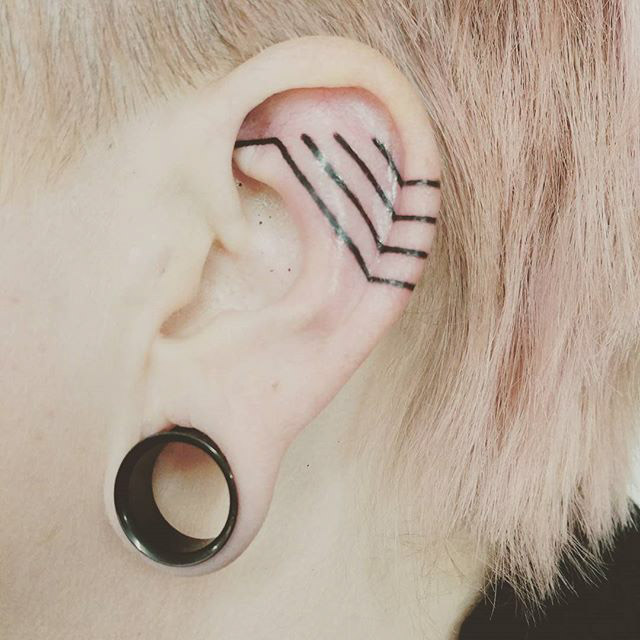 Tattoo Ear by @samrivers_curiosities