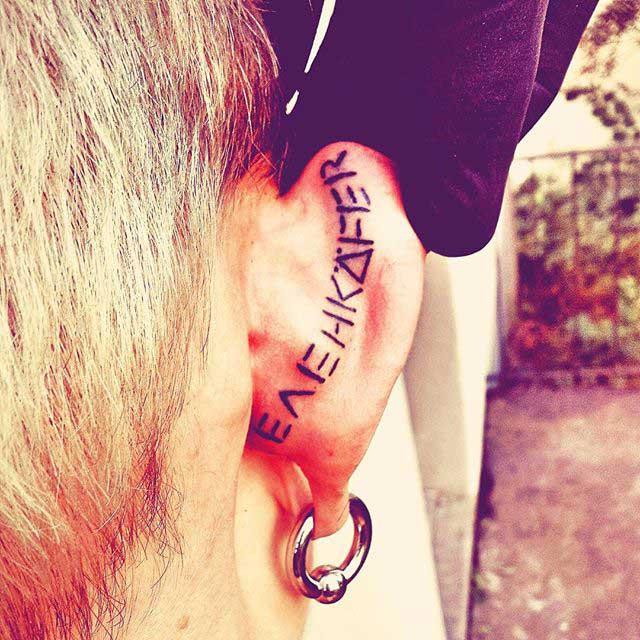 Tattoo on Back of Ear by ayita_kasa