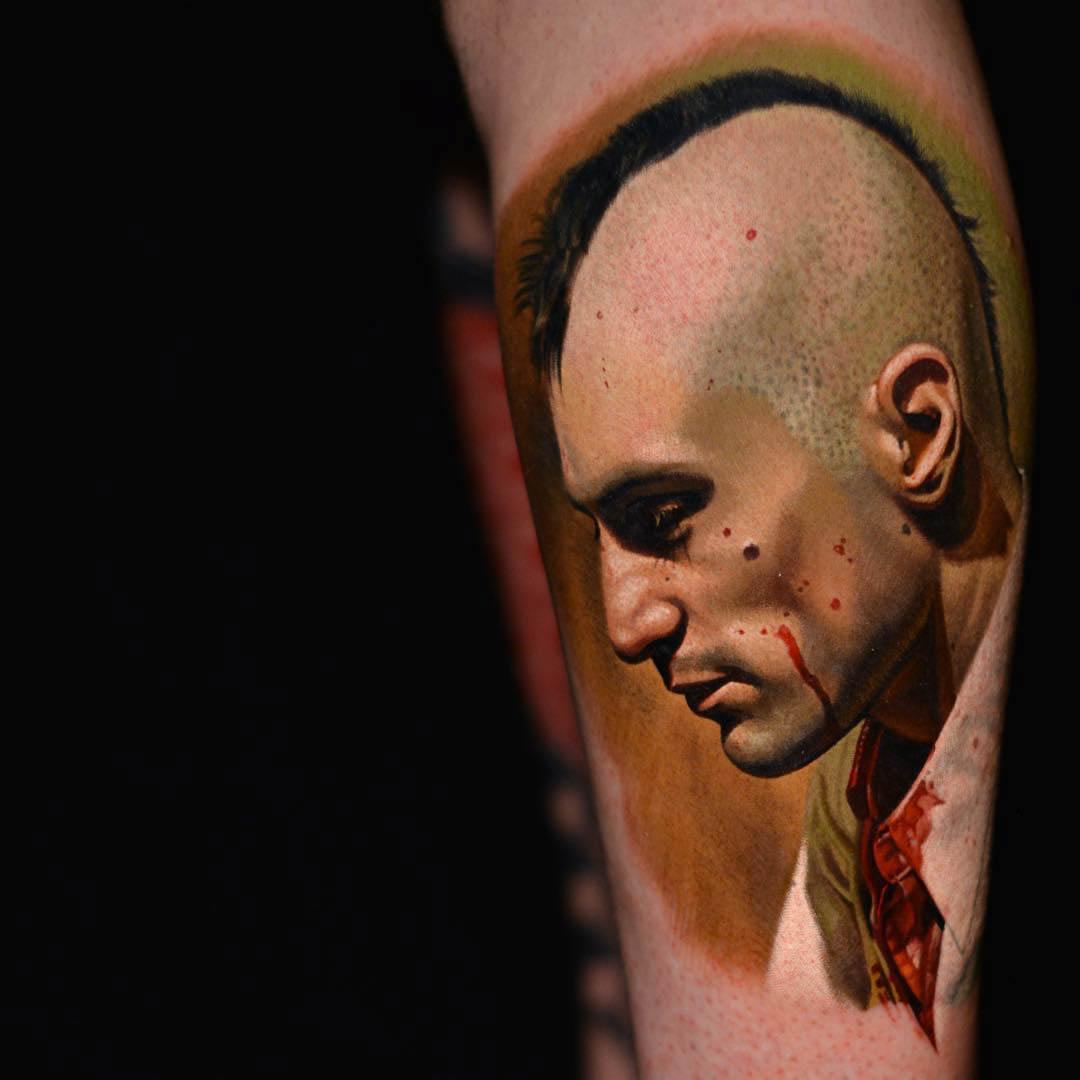 portrait Taxi Driver Movie tattoo
