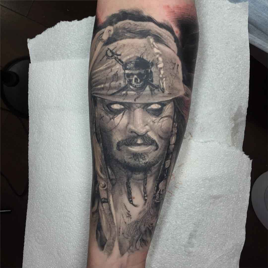 Jack Sparrow Tattoo Portrait