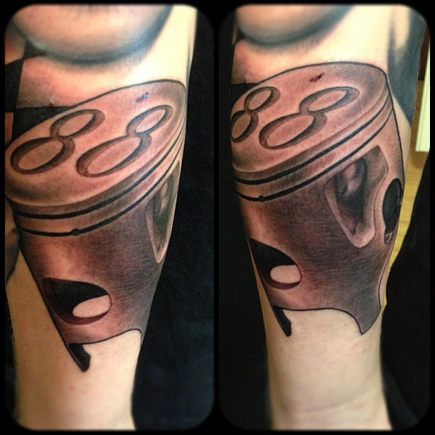 88 Piston Tattoo by hanssonjesper