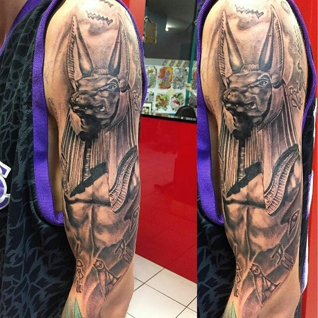 Anubis Egyptian God Tattoo by bobby_images