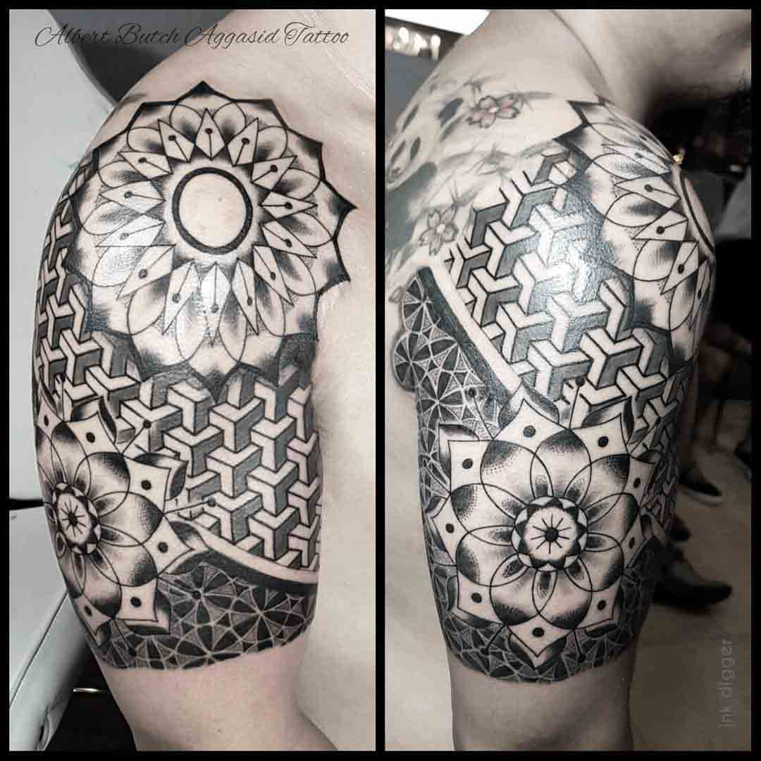 Half Sleeve Shoulder Tattoo by albertaggasid