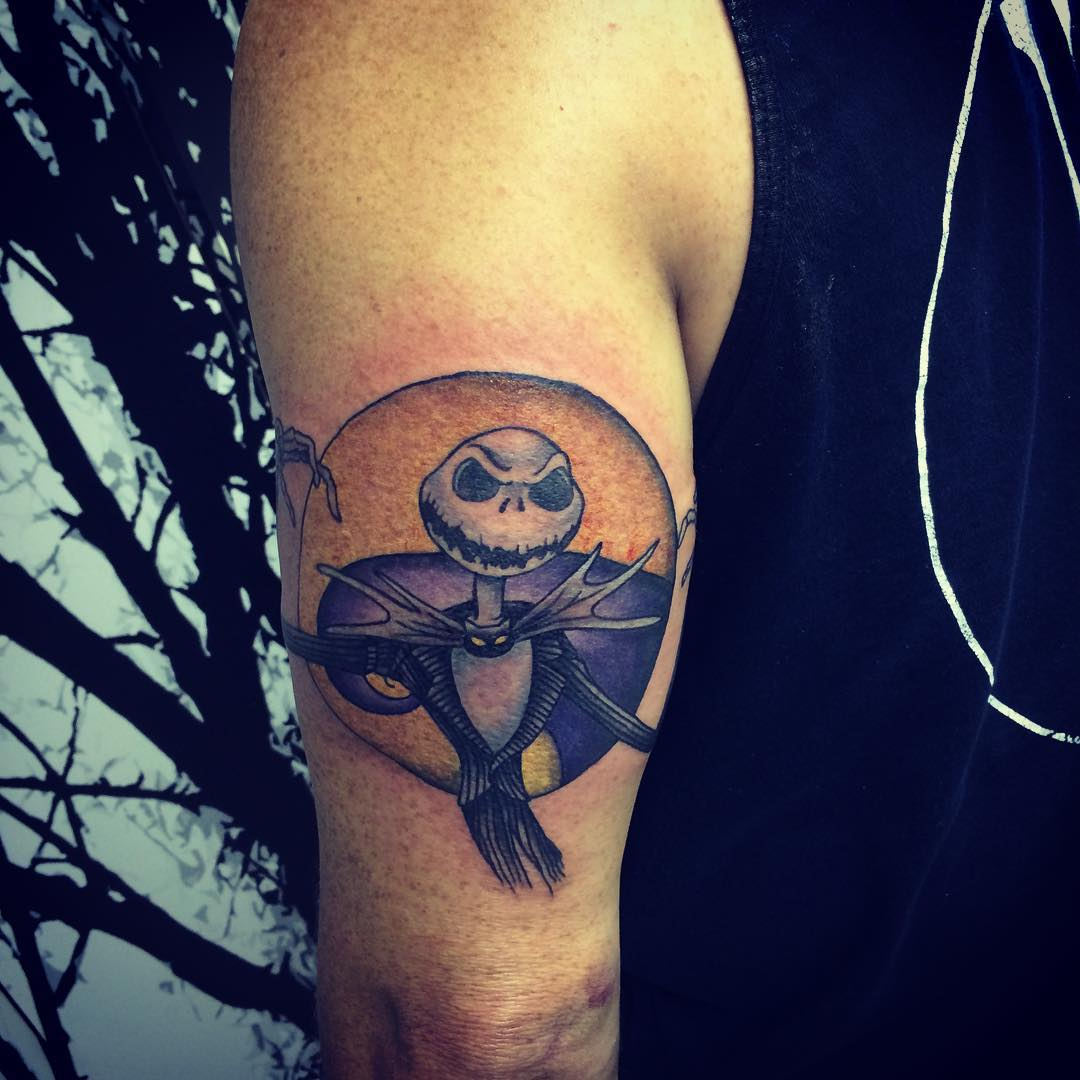 Jack Skellington Tattoo on Tricep