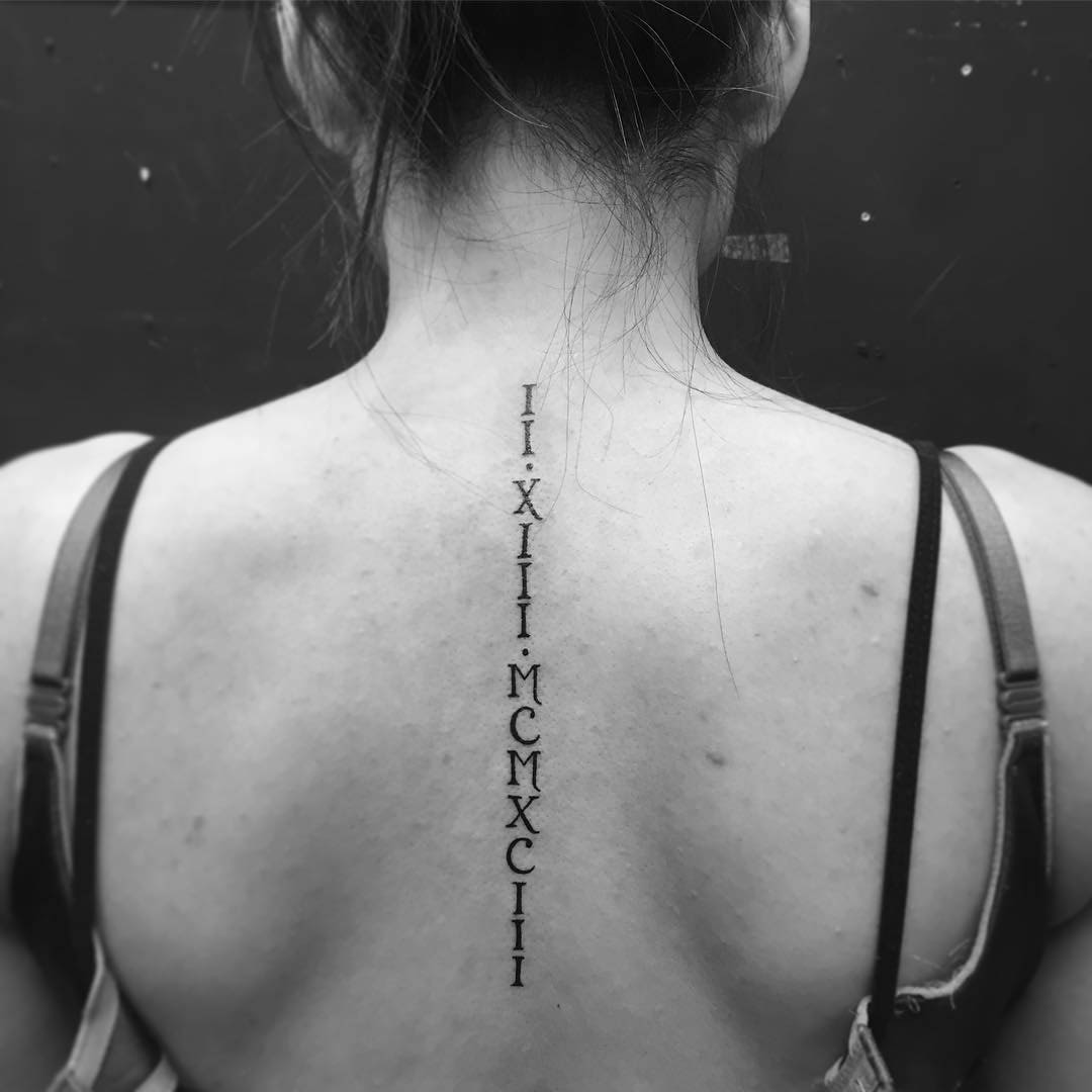 Roman Numerals Back Tattoo by christoferjaime22