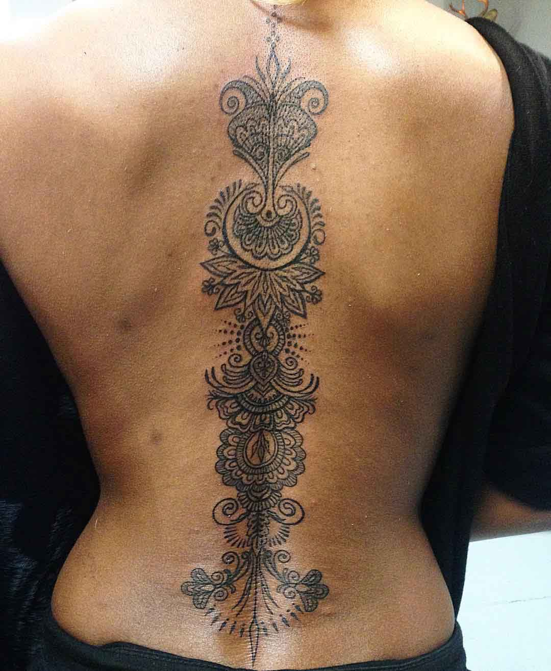 Spine Tattoo For Girls by emilynewgent