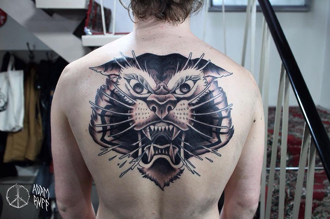 back tattoo tiger