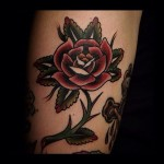 Traditional Rose Tattoo Old School