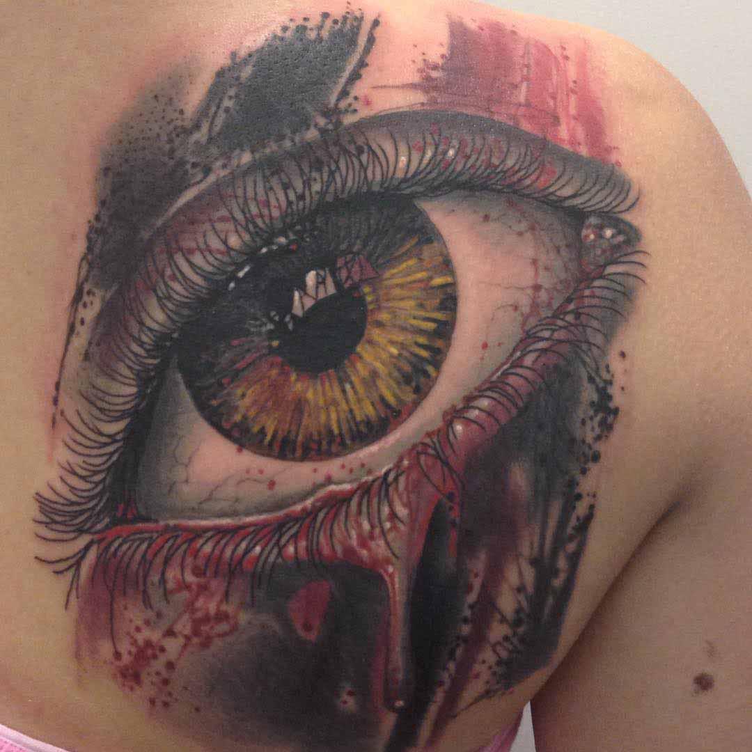 eyeball tattoo trash polka