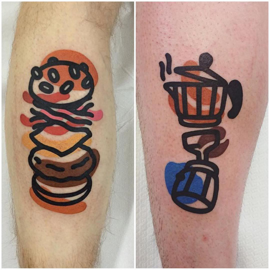 tattoos of food