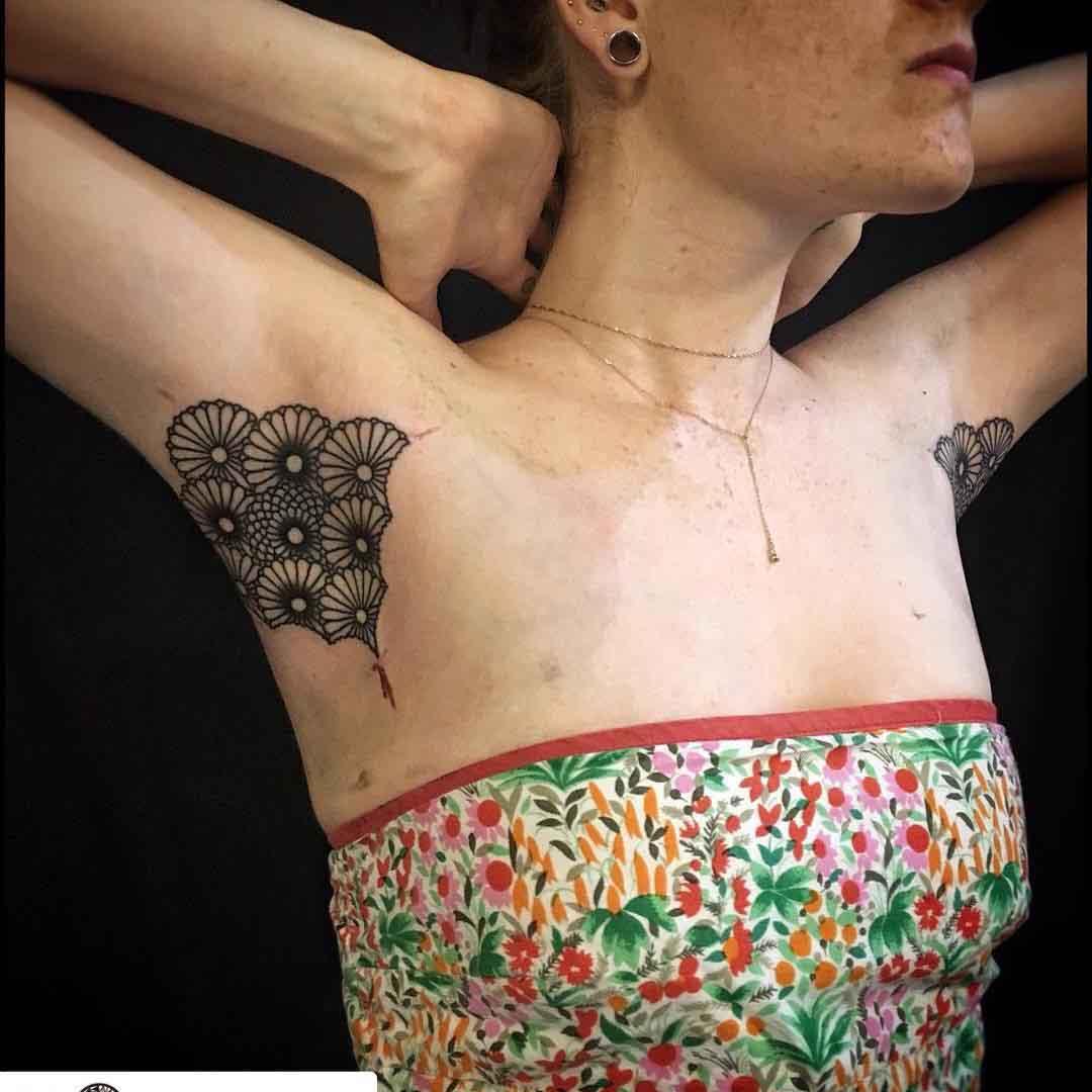 Girl Armpit Tattoo by bastienjean