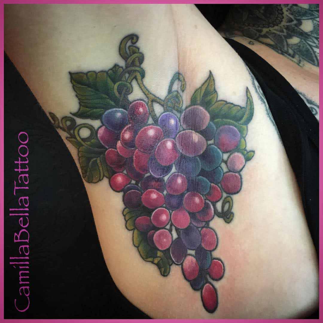 Grapes Tattoo by @bella_tattoo 2