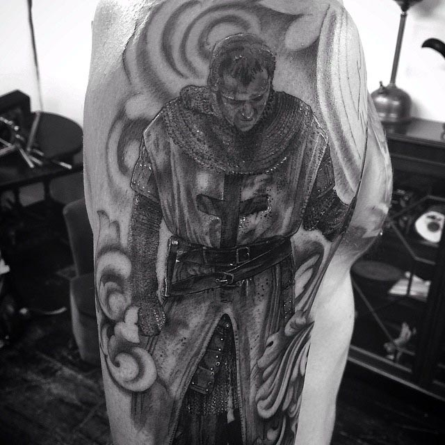 Knight Templar Tattoo by Claire Hamill2