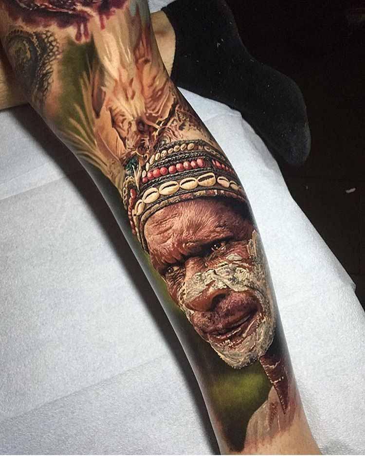indian tattoo realistic