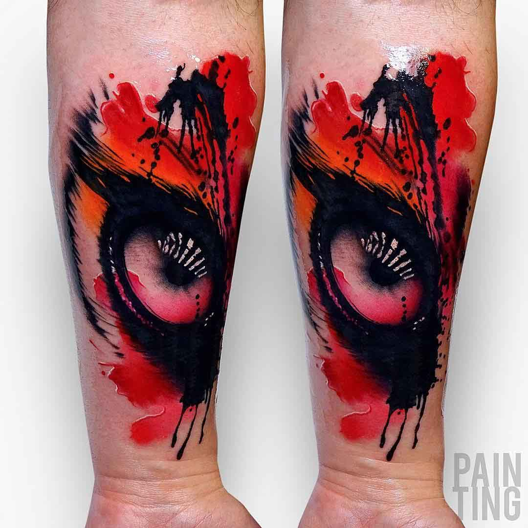 real eye tattoo watercolor