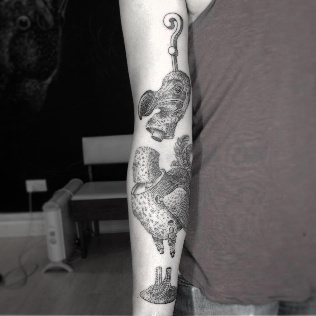 bird tattoo split