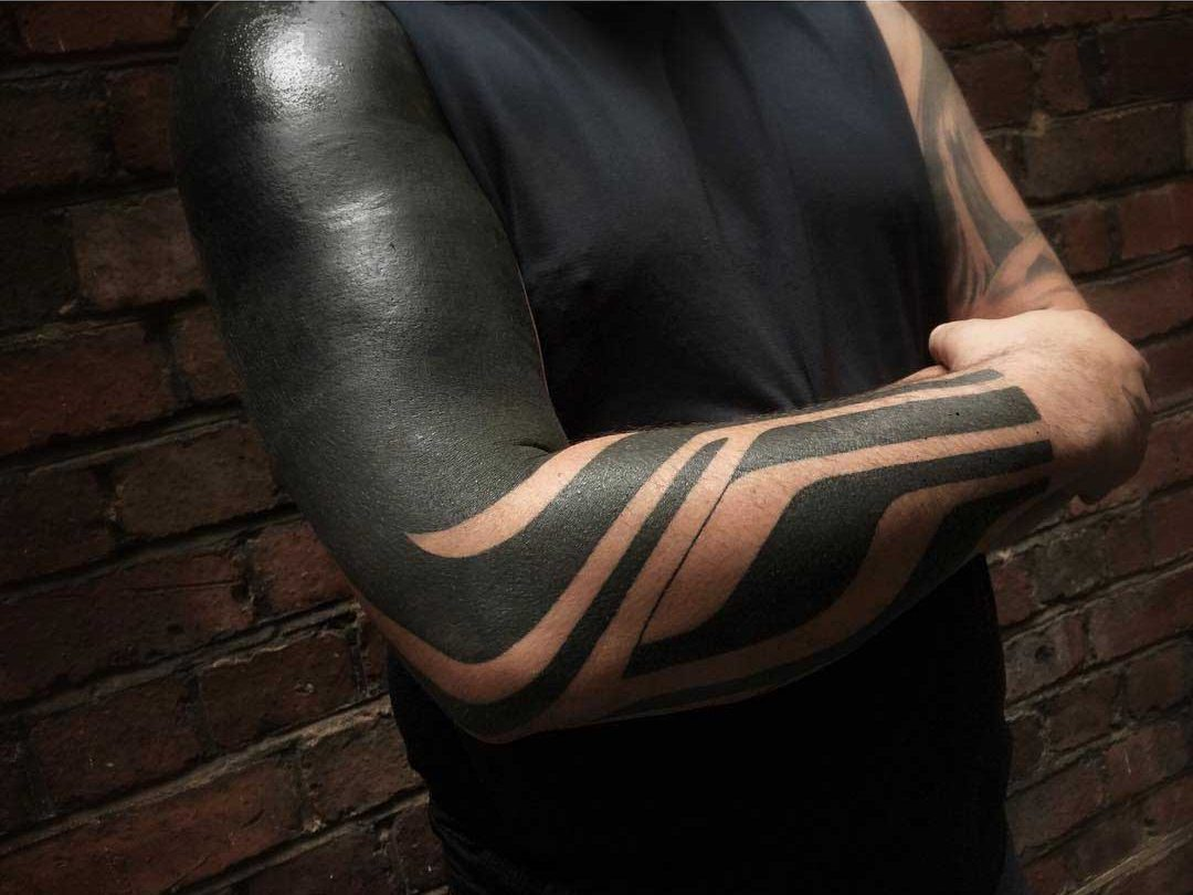 sleeve tattoo blackwork