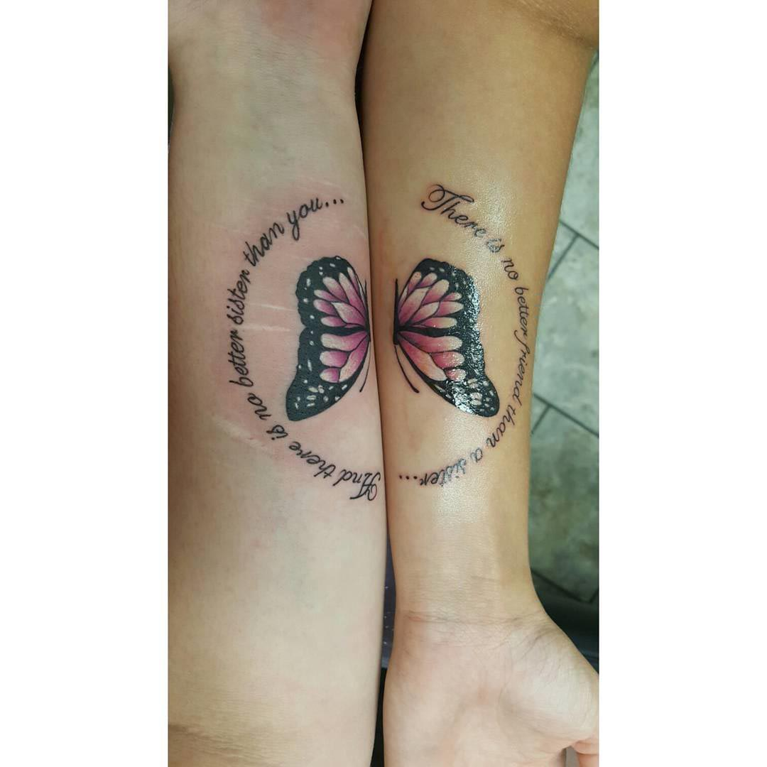 Butterfly Sister Tattoos by Tattsby Chubz