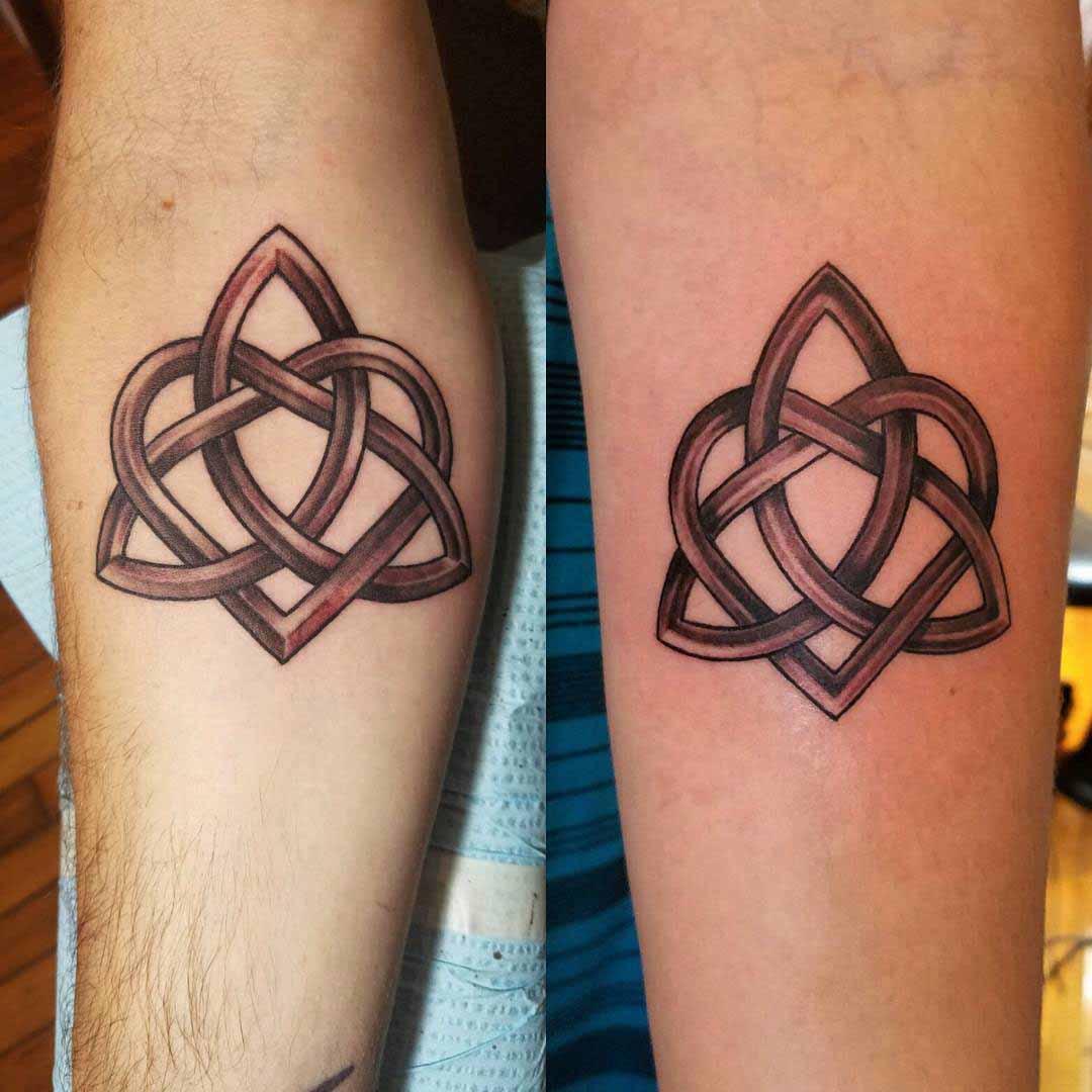 Celtic Style Couple Tattoos by Rebecca Fiduccia