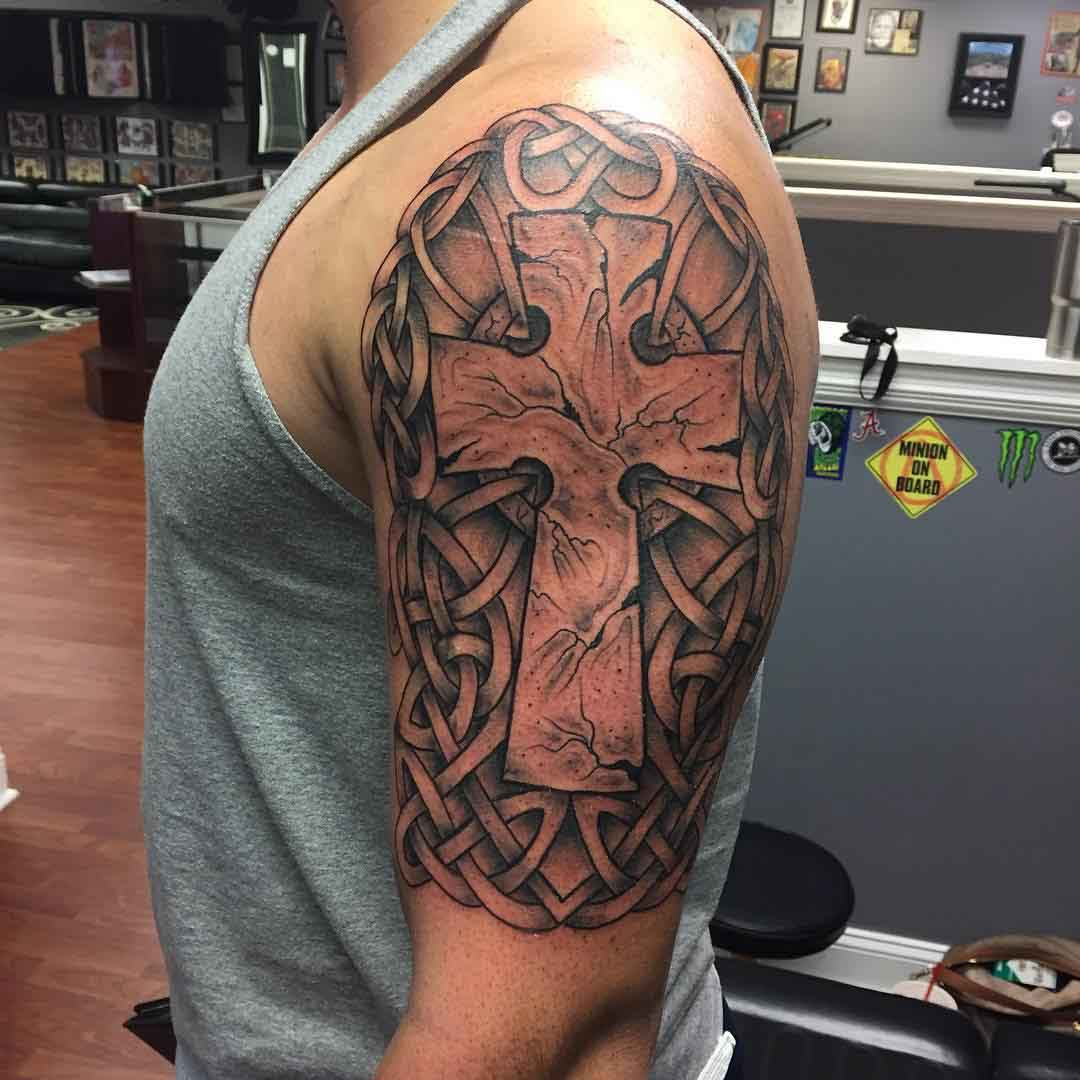 Celtic Tattoo Shoulder by Bryan Haynes