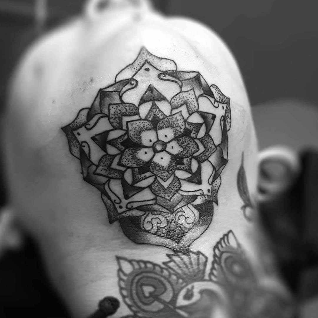Chin Up Tattoo by simona.tattoo