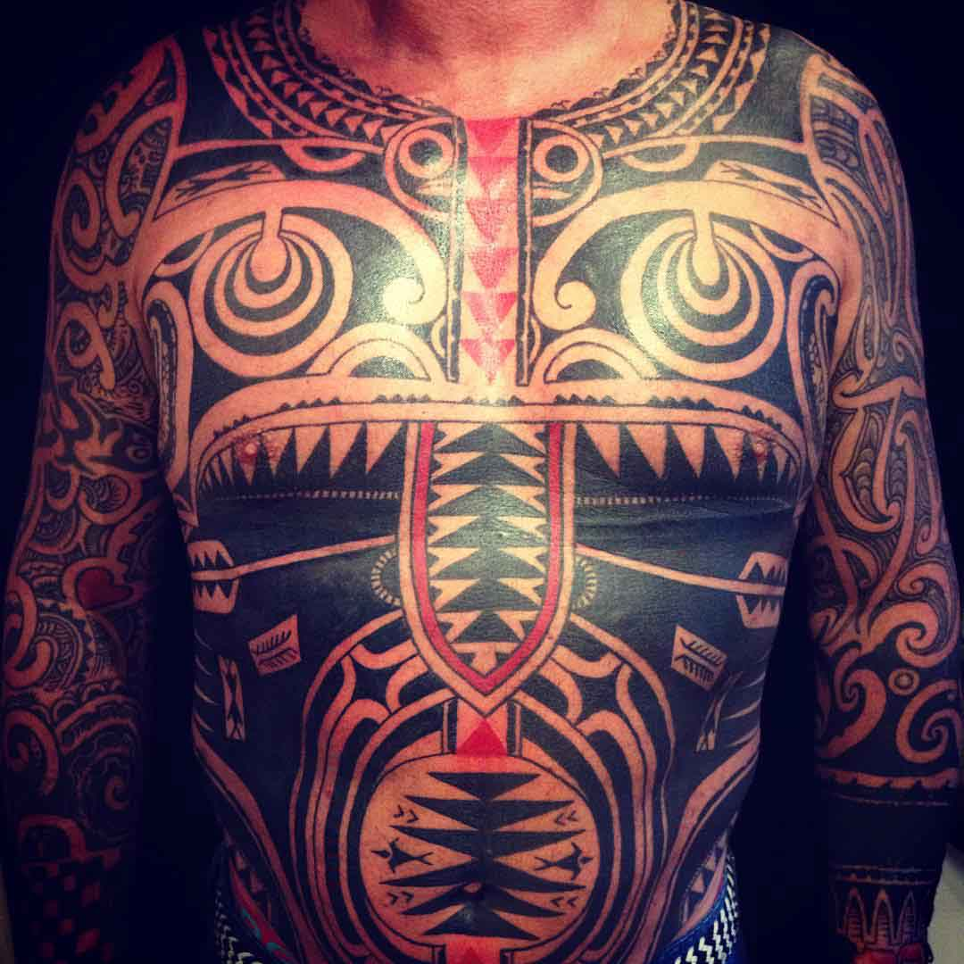 Full Body Maori Tattoo by Igor Kampman