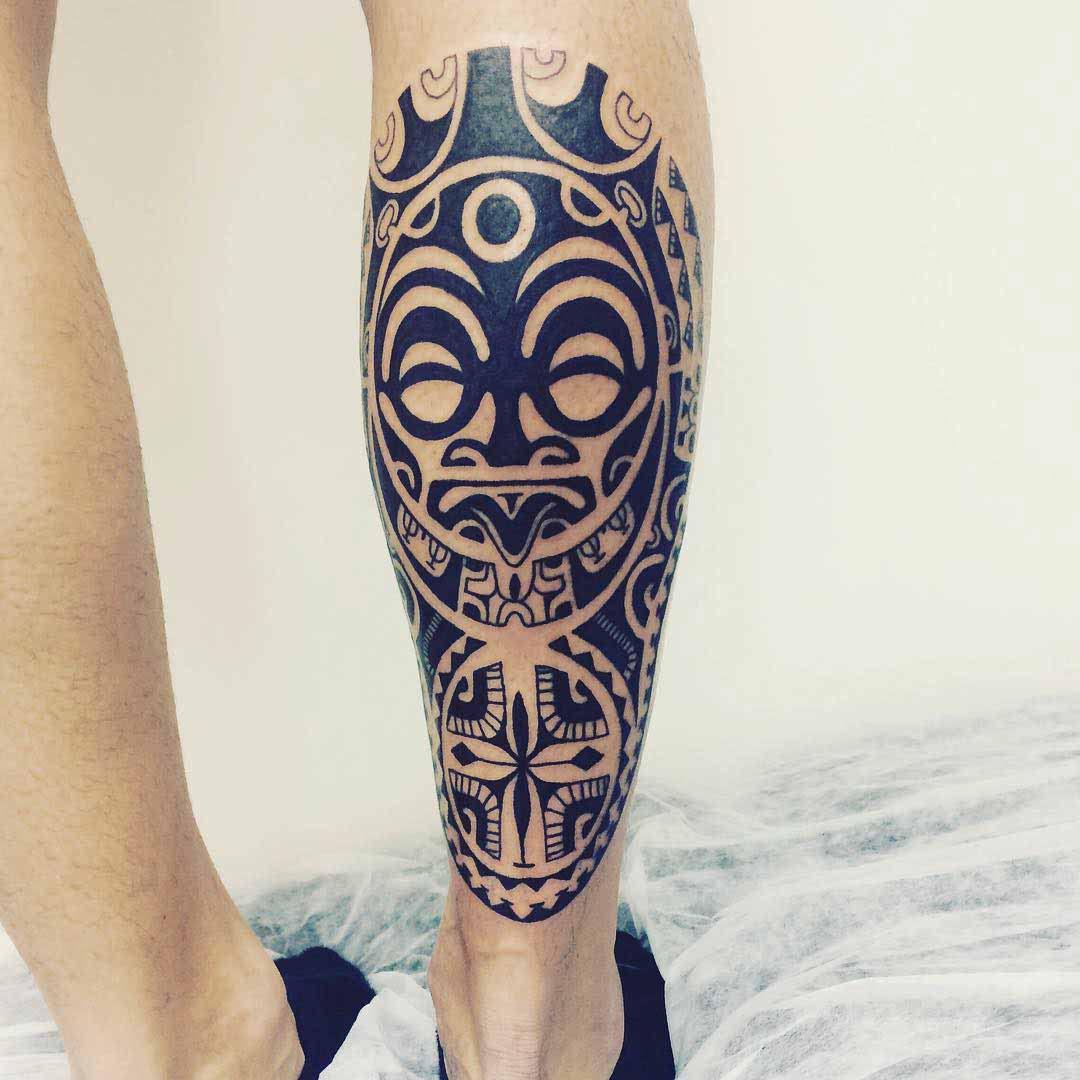 Maori Calf Tattoo by Janser