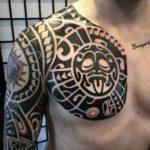 Maori Chest Tattoo