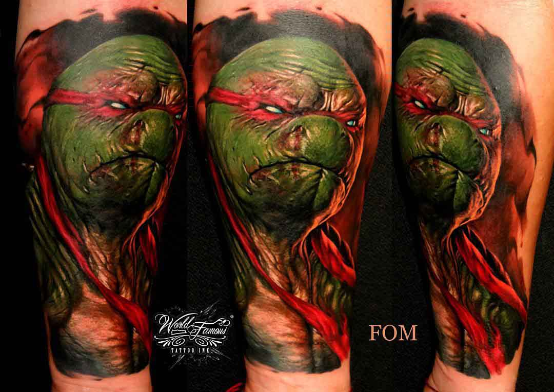 TMNT tattoo realistic Raphael