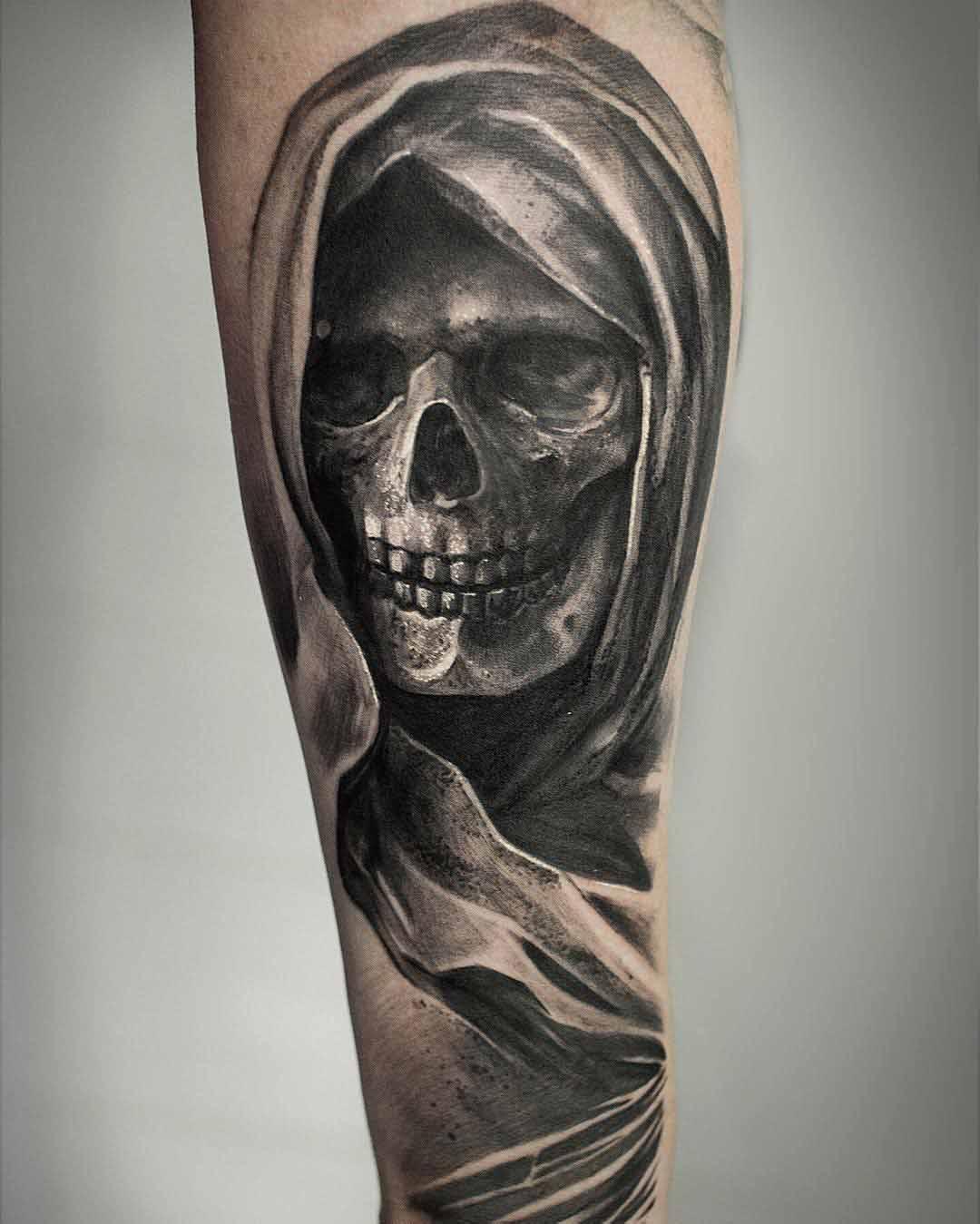 tattoo death skull